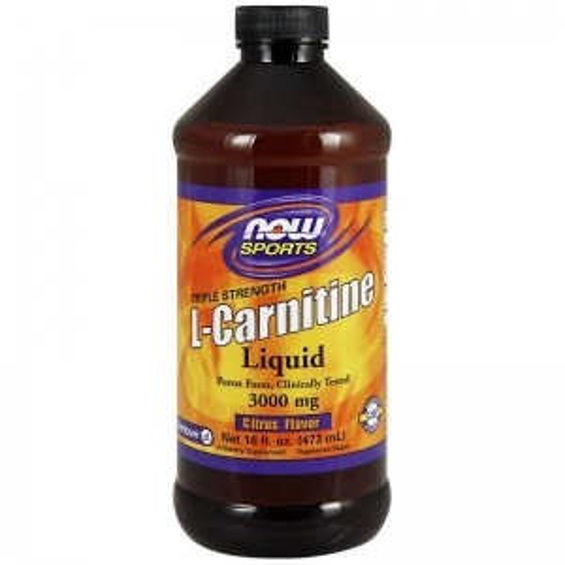 карнитин жидкий, L-Carnitine, Now Foods, Sports, 3000 мг, (473 мл)