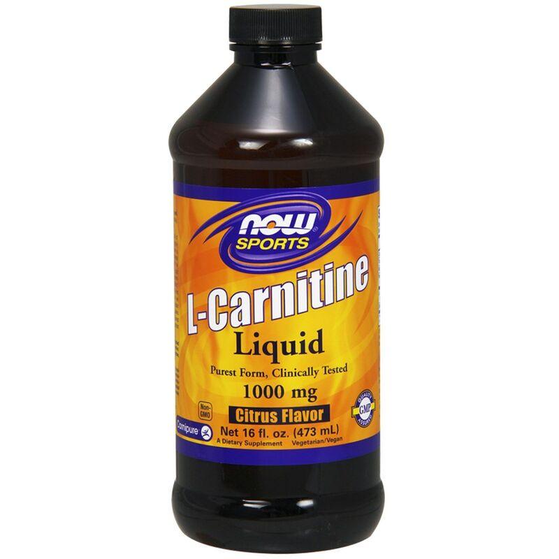 Л карнитин жидкий, L-Carnitine, Now Foods, Sports, 1000 мг, (473 мл)