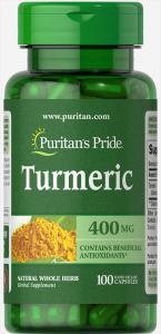 Куркумин,Turmeric, Puritan's Pride, 400 мг, 100 капсул