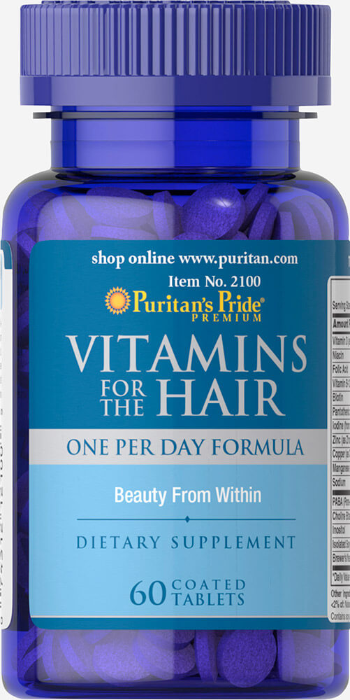Витамины для волос, Vitamins for the Hair, Puritan's Pride, 60 таблеток
