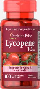 Ликопин, Lycopene, Puritan's Pride, 10 мг, 100 гелевых капсул