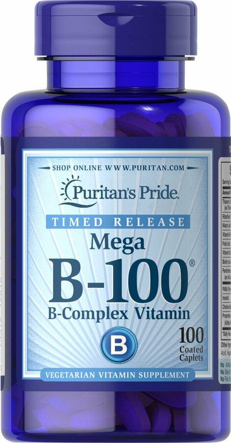 Витамин В-100 комплекс, Vitamin B-100®, Puritan's Pride, 100 капсул
