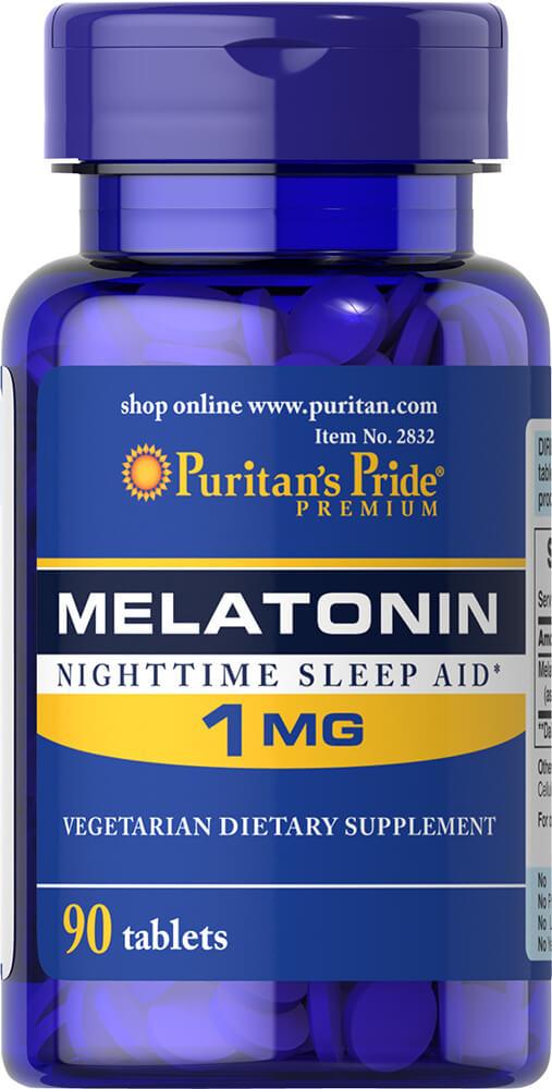 Мелатонин, Melatonin, Puritan's Pride, 1 мг, 90 таблеток