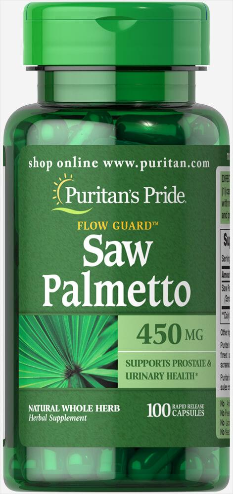 Со пальметто, Saw Palmetto, Puritan's Pride, 450 мг