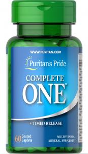 Мультивитамины, Multivitamin Timed Release, Complete One™, Puritan's Pride, 60 каплет