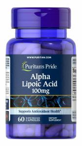 Альфа-липоевая кислота, Alpha Lipoic Acid 100 mg, Puritan's Pride, 100 мг, 60 капсул