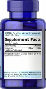 Пантотеновая кислота, Pantothenic Acid, Puritan's Pride, 550 мг, 100 капсул