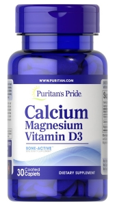 Кальций Магний Витамин Д, Calcium Magnesium with Vitamin D, Puritan's Pride, 30 капсул