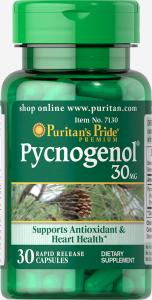 Пикногенол, Pycnogenol, Puritan's Pride, 30 мг.