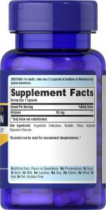 Мелатонин, Melatonin, Puritan's Pride, 10 мг, 30 капсул
