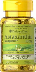 Астаксантин, Natural Astaxanthin 10 mg, Puritan's Pride, 10 мг, 30 капсул