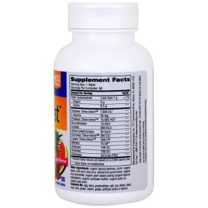 Пищеварительные ферменты для детей, Kids Digest, Enzymedica, фруктовый вкус, для веганов, 90 жевател