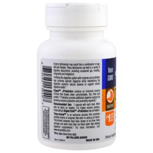 Ферменты и пробиотики, Digest + Probiotics, Enzymedica, 30 капсул