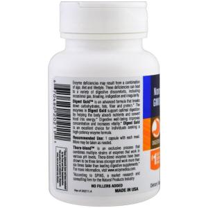 Пищеварительные ферменты, Digest Gold with ATPro, Enzymedica, 45 капсул