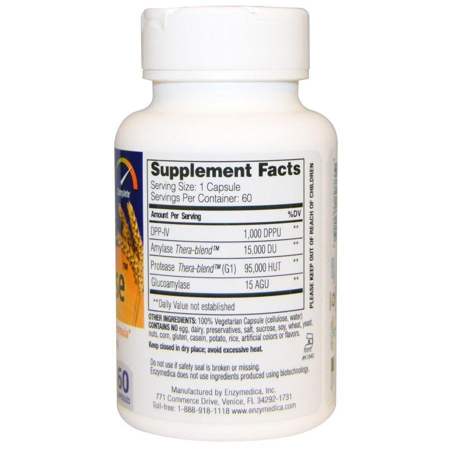 Ферменты для переваривания глютена, Enzymedica, 60 капсул