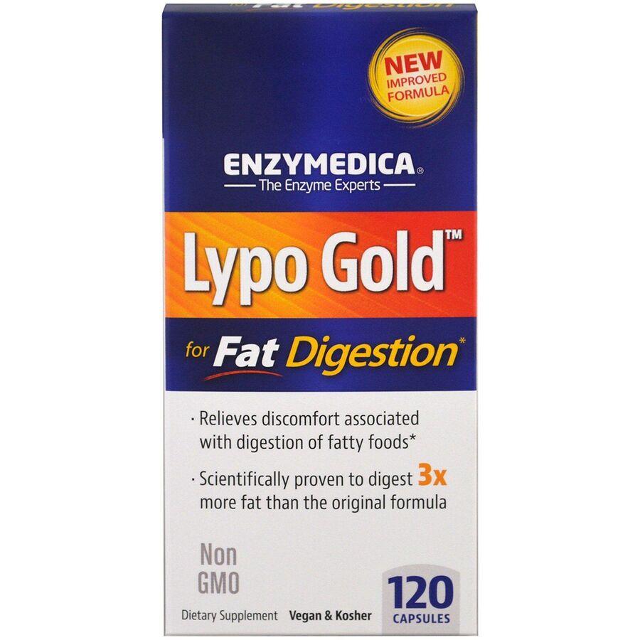 Оптимизатор, фермент для переваривания жира, Enzymedica, 120 кап.