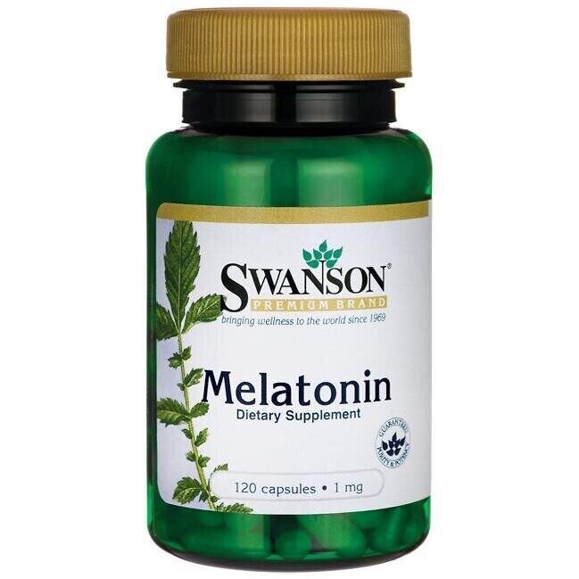 Мелатонин, 1 мг., 120 капсул, Swanson