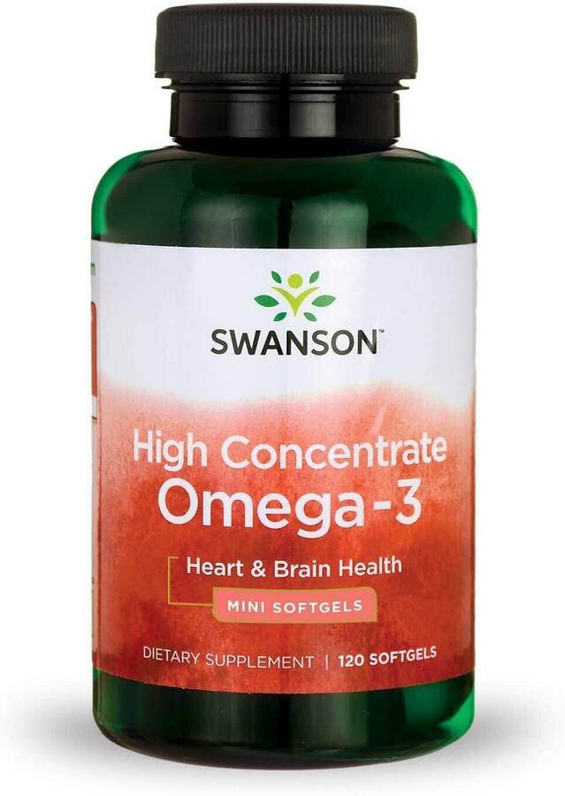 Омега 3, высокая концентрация, 720 мг., 120 капсул, Swanson