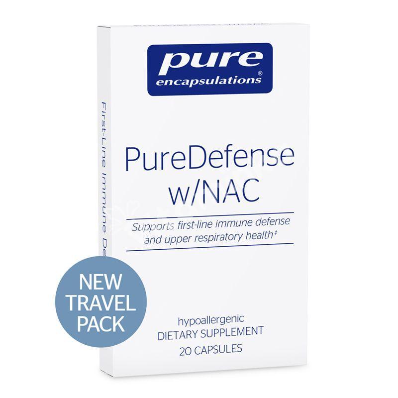Поддержка иммунитета и здоровья дыхательных путей, PureDefense with NAC, Pure Encapsulations, 20 капсул