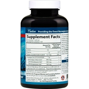 Докозагексаеновая кислота (ДГК) для кормящих мам, Mother's DHA, Carlson Labs, 500 мг, 120 гелевых капсул