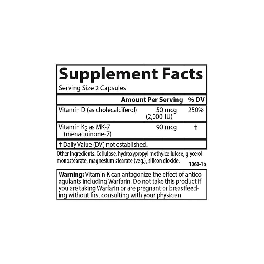 Витамин Д3 и К2, Vitamin D3 + K2, Carlson Labs