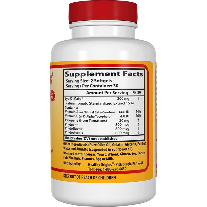 Ликопин (Lyc-O-Mato, Tomato Lycopene), Healthy Origins, Комплекс, 15 мг
