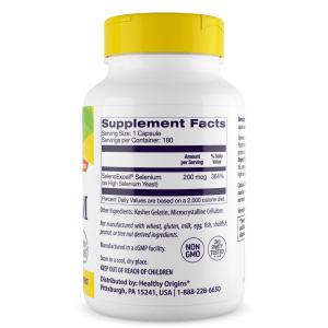 Селен (Seleno Excell), Healthy Origins, 200 мкг, 180 капсул