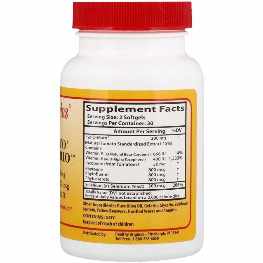 Ликопин (Lyc-O-Mato Clinical Trio), Healthy Origins, 60 гелевых капсул