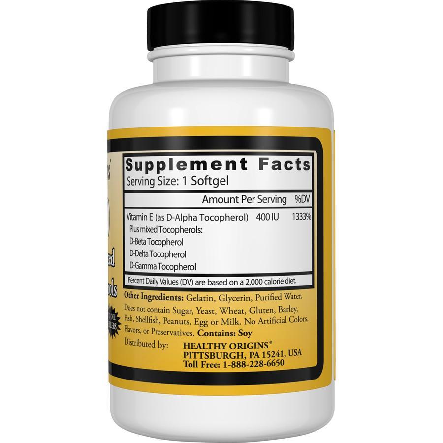 Витамин E-400, Healthy Origins