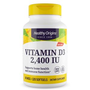 Витамин Д3, Healthy Origins, 2400 МЕ