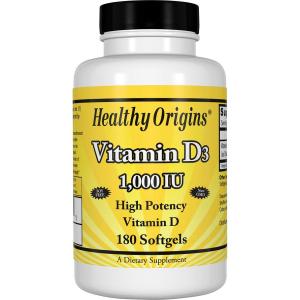 Витамин Д3, Healthy Origins, 1000 МЕ