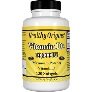 Витамин Д3, Healthy Origins, 10 000 МЕ