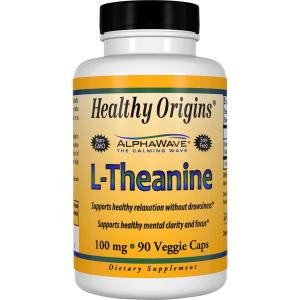 L-теанин, L-Theanine, Healthy Origins, 100 мг