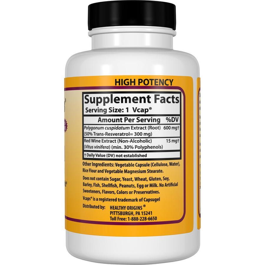 Ресвератрол, Healthy Origins, 300 мг