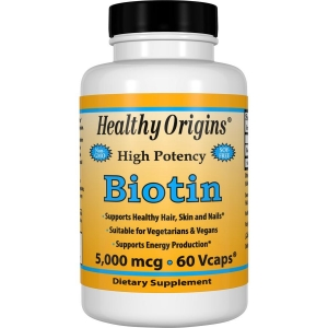 Биотин, Biotin, Healthy Origins, 5000 мг.