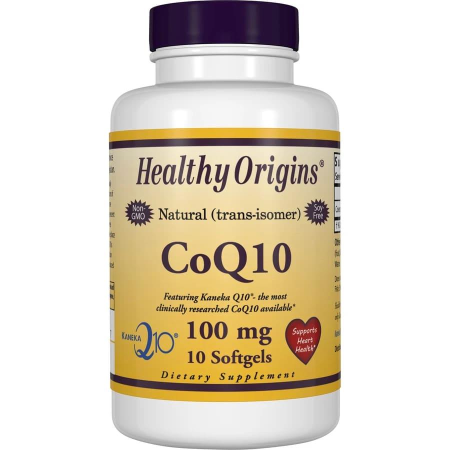 Коэнзим CoQ10, CoQ10 Gels (Kaneka Q10), Healthy Origins, 100 мг.