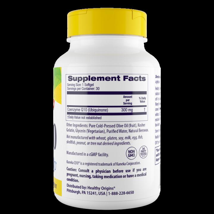 Коэнзим Q10, Healthy Origins, Kaneka Q10 (CoQ10), 300 мг, 60 капсул