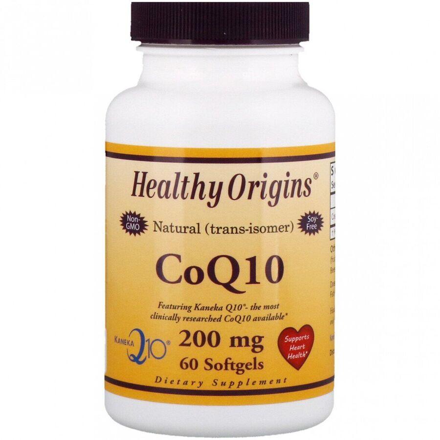 Коэнзим Q10, Healthy Origins, Kaneka Q10 (CoQ10), 200 мг.