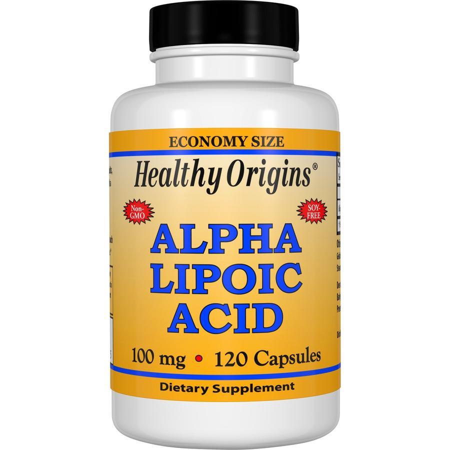 Альфа-липоевая кислота, Healthy Origins, 100 мг, 120 капсул