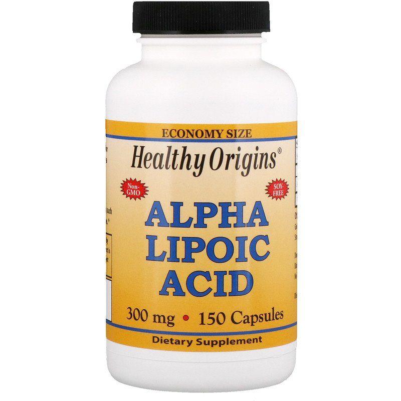 Альфа-липоевая кислота, Healthy Origins, 300 мг.
