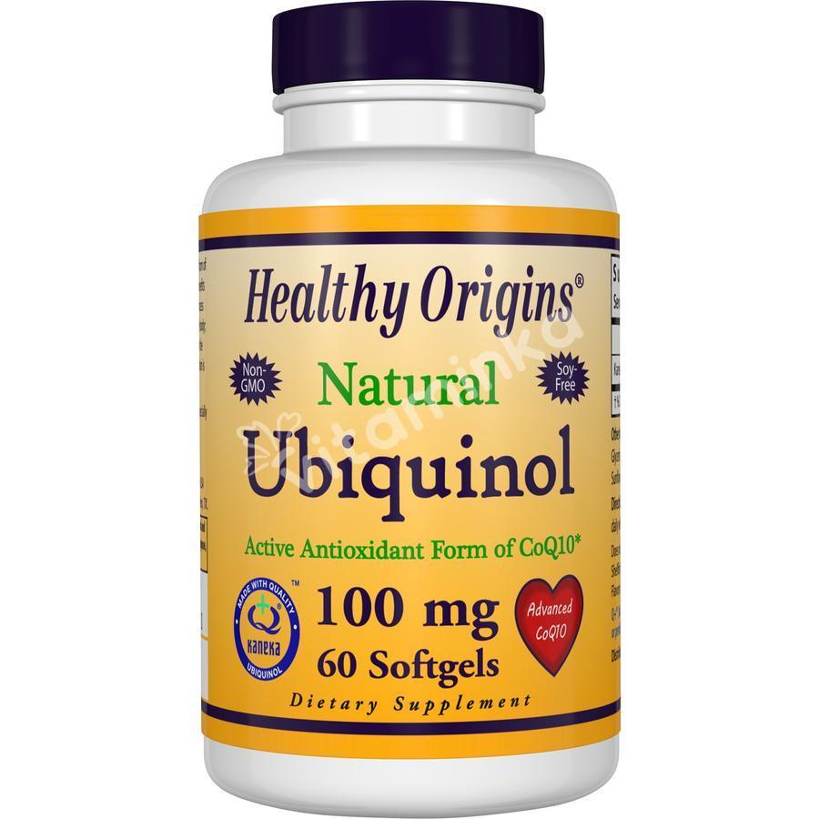 Убихинол коэнзим CoQ10, Healthy Origins, 100 мг, 60 капсул