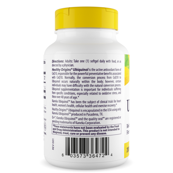 Убихинол (Kaneka QH), Ubiquinol, Healthy Origins, 200 мг