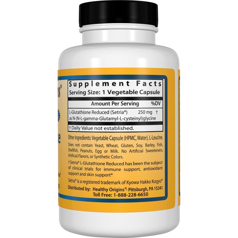 Глутатион, L-Glutathione, Healthy Origins, Setria, 250 мг.