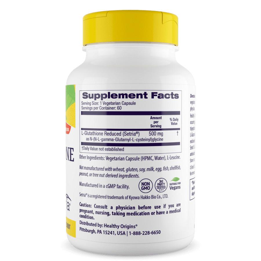 Глутатион, Healthy Origins, 500 мг