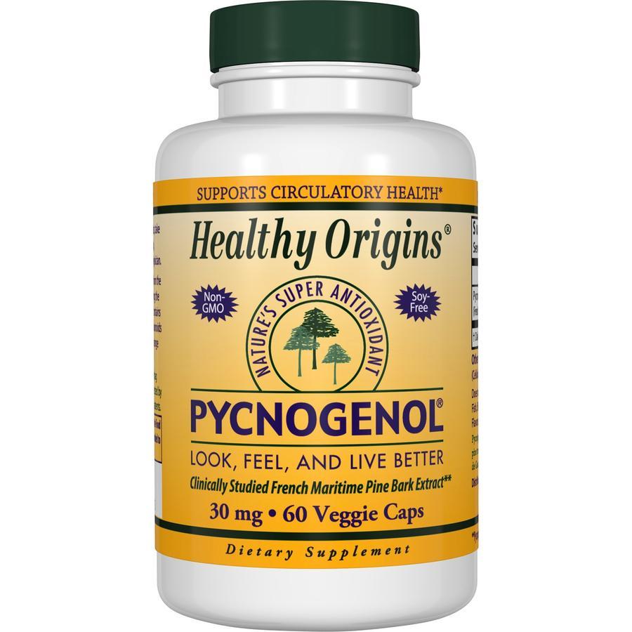 Пикногенол, Pycnogenol, Healthy Origins, 30 мг, 60 капсул