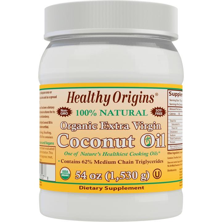 Органическое Кокосовое Масло Extra Virgin, Healthy Origins