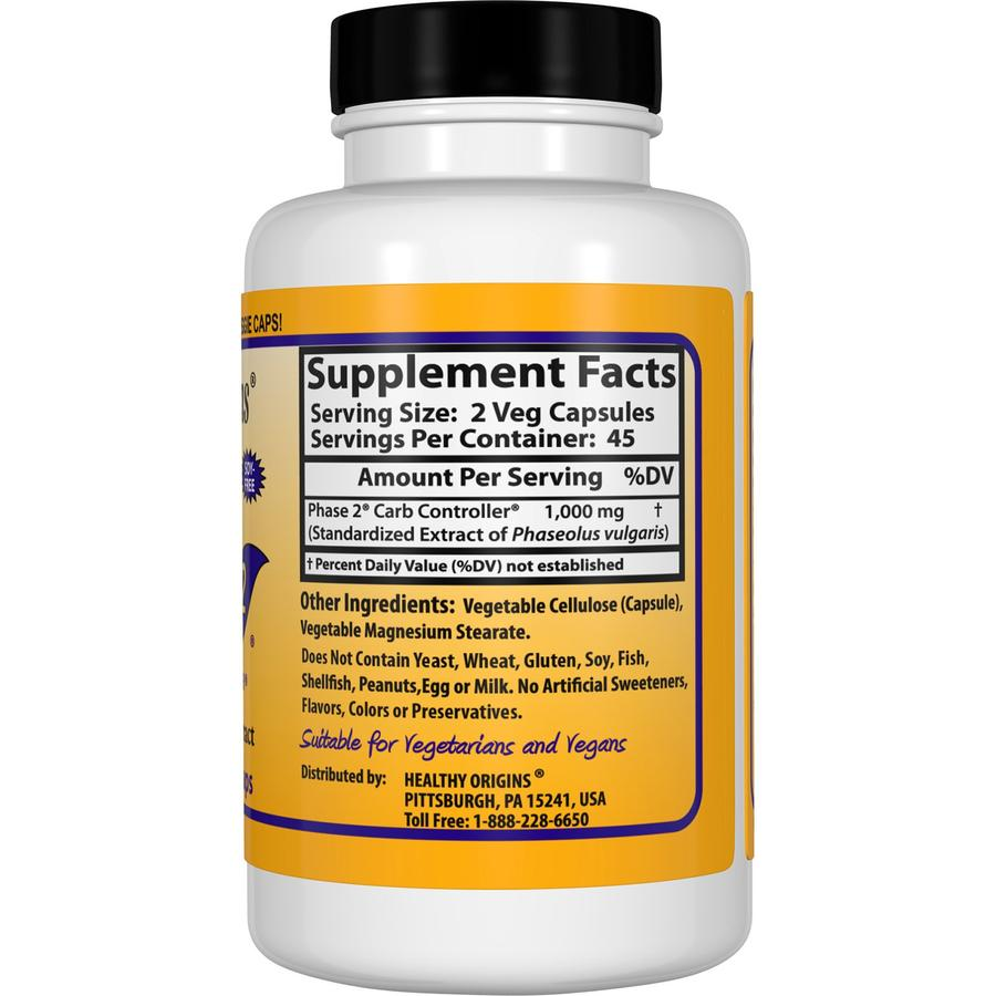 Белая Фасоль Фаза 2, Healthy Origins, 500 мг, 90кап