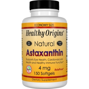 Астаксантин, Natural Astaxanthin, Healthy Origins, 4 мг