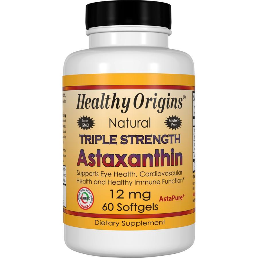 Астаксантин, Healthy Origins, 12 мг