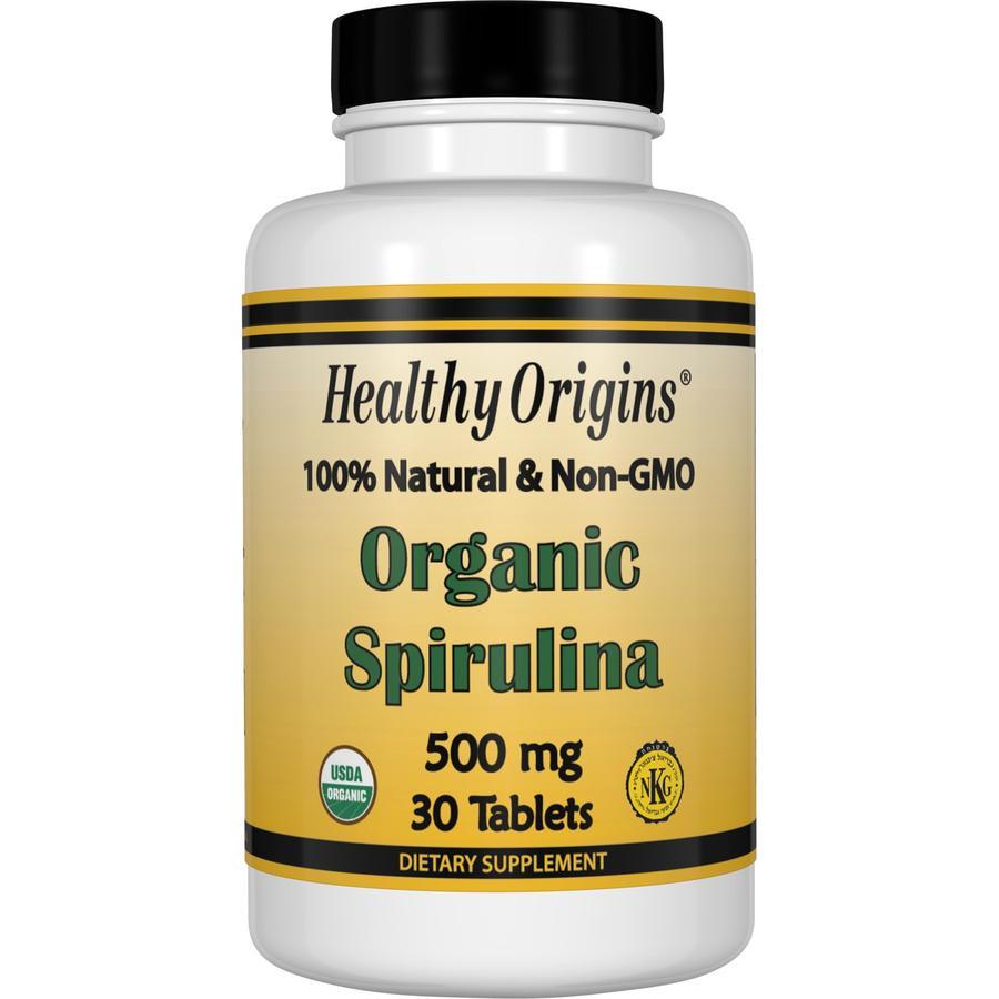 Органическая спирулина, 500 мг (Organic Spirulina), Healthy Origins